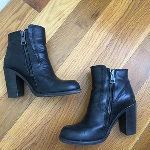 All Saints 'Jules' Black Leather Bootie